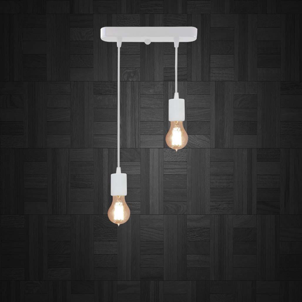 Подвесной светильник на 2-лампы CEILING-2 E27 белый