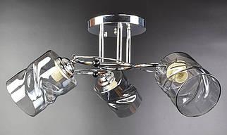 Люстра стельова на 3 лампочки 7290/3A-ch Хром 22х48х48 див.