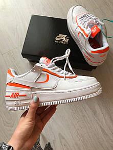 Женские кроссовки Nike Air Force Shadow White Orange