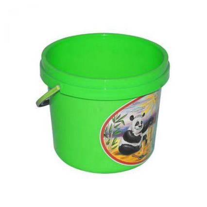 Ведёрко для песка зеленый 0521