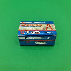 Кнопка хром в картоновой упаковке 100 шт (A plus) №886 (1 пач)