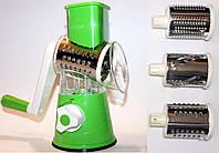 Ручная терка измельчитель с 3-я насадками на присоске HYU CY-806 green