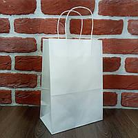 Пакет бумажный с ручками 28*19*11,5см белый 25 шт
