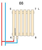 Вертикальный радиатор Metrum2, H-1800 мм, L-255 мм, фото 3