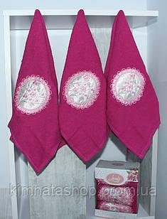 ТМ TAG Набор полотенец Lovely розов. (3 шт) Рушник махровий бавовна