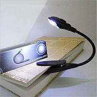 Світильник портативний на кліпсі, для книг (clip001Black)