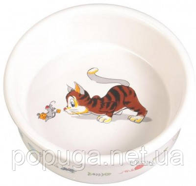 Trixie КОТ И МЫШЬ керамическая миска для кошки, 200 мл