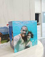Фотокубик на 6 фото 12х6 см - оригинальный подарок девушке, парню, жене, мужу, на День Святого Валентина