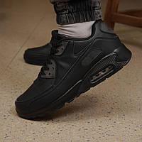 Кроссовки в стиле Nike Air Max 90 черные