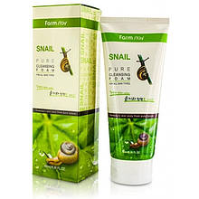 Очищающая пенка для лица с муцином улитки FarmStay Snail Pure Cleansing Foam