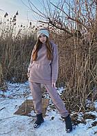 Жіночий теплий зимовий костюм на флісі one size, мокко