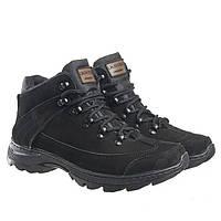 Ботинки тактические женские черные натуральные нубуковые весенние демисезонные модель Комбат