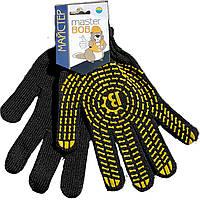 Перчатки Master BOB с точкой ПВХ черные арт. 555