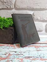 Обложка (портмоне, холдер) для документов охотника из натуральной кожи ручной работы от SSI Leather