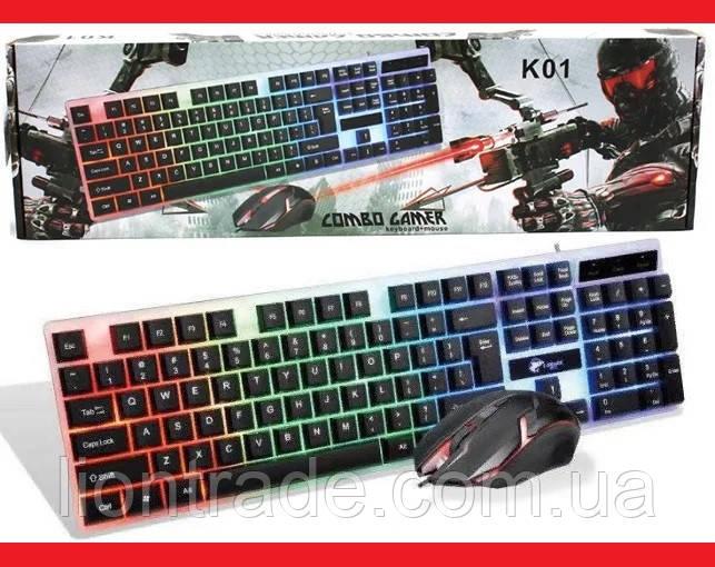Клавиатура + мышка UKC M416 LED (с подсветкой) Keyboard + Мышка