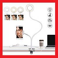 Кільцева лампа з держателем Professional Live Stream, селфи-кільце, фото 1