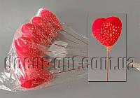 Сердце из пенопласта с фатином на спице 5х5м 302G4804