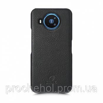 Кожаная накладка Stenk Cover для Nokia 8.3 Чёрная