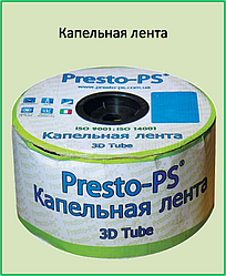 Капельная лента Presto-PS щелевая Blue Line отверстия через 30 см, расход воды 2,2 л/ч, 1000 м (BL-30-1000)