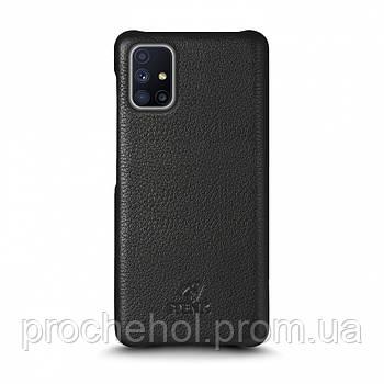 Кожаная накладка Stenk Cover для Samsung Galaxy M51 Чёрная
