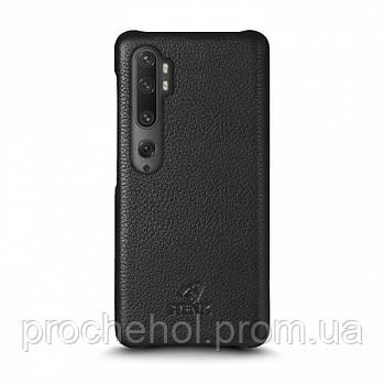 Кожаная накладка Stenk Cover для Xiaomi Mi Note 10 Pro Чёрная