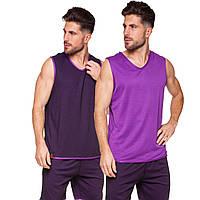 Баскетбольная форма мужская двусторонняя однослойная Lingo Ease фиолетовая LD-8801, 165-170 см