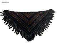 Накидка меховая из норки. Меховой платок коричневый с черным