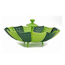 Вставка в каструлю пароварка Cooking House Lotus Steamer 26 см Зелена