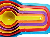 Набор Rainbow кухонных мисок с мерными ложами Cooking House, фото 2
