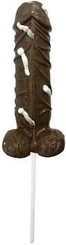 Большая съедобная конфета  Chocolate Flavoured Cum Pops от Spencer Fleetwood