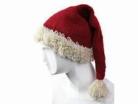 Шапка Дед Мороз шерстяная Ручная вязка