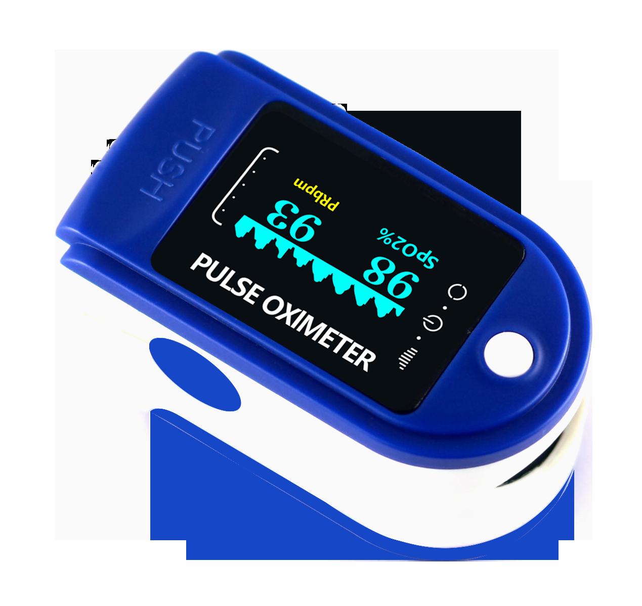 Пульсометр оксиметр на палец (пульсоксиметр) JN P01 TFT Blue ОПТ