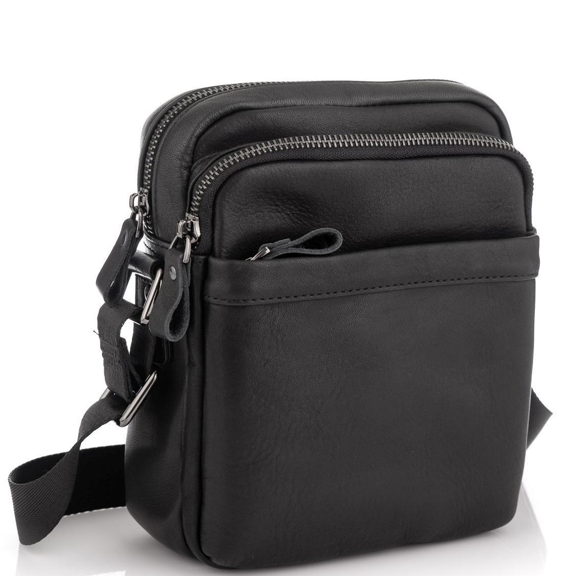 Мужская сумка через плечо черная Tiding Bag 6027A