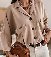 Женская блузка с воротником капучино SKL11-280080