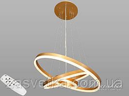 Современная светодиодная люстра с диммером, 90W 7990/3 60см золото