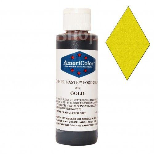 Краситель гелевый Золотой AmeriColor 128 г
