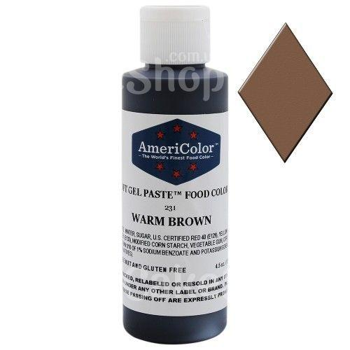 Краситель гелевый Теплый коричневый AmeriColor 128 г