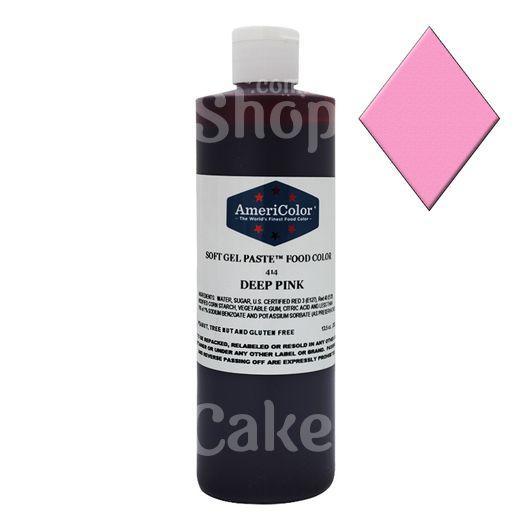 Краситель гелевый Темно розовый Deep Pink AmeriColor 382 г