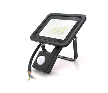 Прожектор уличный Ritar Slim Sensor Led (RT-FLOOD/MS30A/01204) 30W, 36xSMD2835, IP65, 3000Lm, 6500K