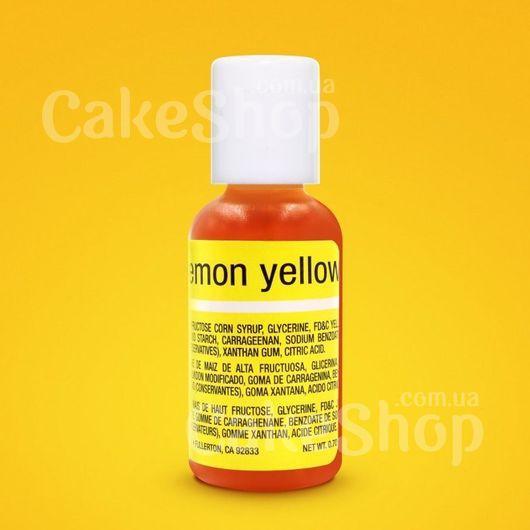 Гелевый краситель Chefmaster Liqua-Gel Lemon Yellow (Лимонно-желтый)