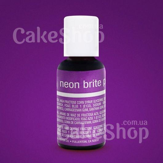 Гелевый краситель Chefmaster Liqua-Gel Neon Brite Purple (Неоновый фиолетовый)
