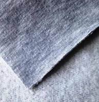 Футер 3-х нитка (хлопок 77% п/э 23%) с начесом меланж (светло-серый)