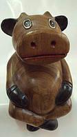 Статуэтка корова деревянная размер 20*12*10