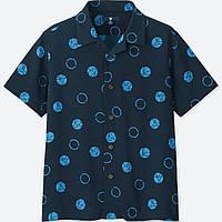 UNIQLO BOYS MICKEY BLUE SHORT-SLEEVE SHIRT (ONLINE EXCLUSIVE)