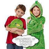 Толстовка с капюшоном худи Huggle Pets трансформер в игрушку Зеленый SKL11-276472, фото 4