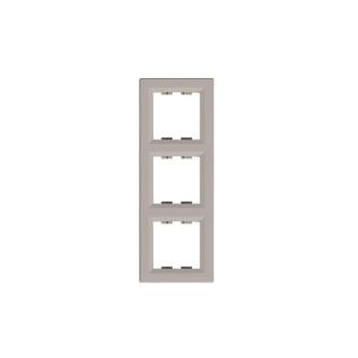 Рамка 3-постовая вертикальная Asfora бронза