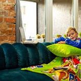 Рукоплед Плед с рукавами из микрофибры с рисунками детский 125х80 Щенячий патруль зеленый SKL20-277454, фото 2