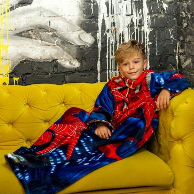 Рукоплед Плед с рукавами из микрофибры с рисунками детский 125х80 SpiderMan SKL20-277456