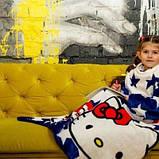 Рукоплед Плед с рукавами из микрофибры с рисунками детский 125х80 Kitty SKL20-277457, фото 2
