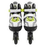 Роликовые коньки SportVida Size 31-34 Grey/Yellow SKL41-277908, фото 4